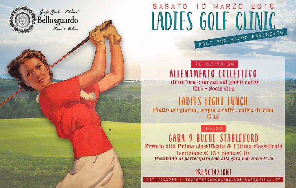 Ladies Golf Clinic 10 marzo